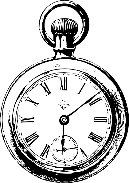 Pocket Watch clip art Free vector in Open office drawing svg.