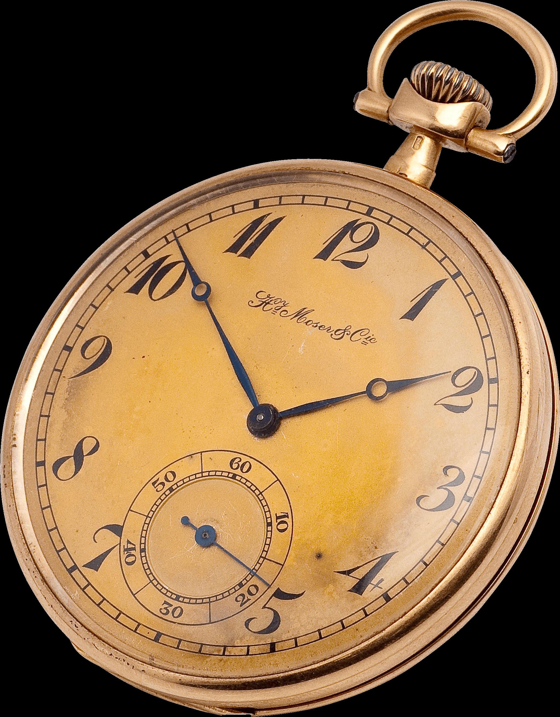 Copper Gold Pocket Watch Clock transparent PNG.