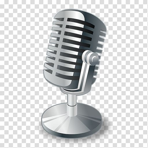 Wireless microphone Radio Podcast, microphone transparent.