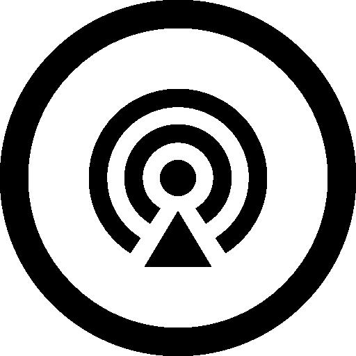 Podcast circular button.