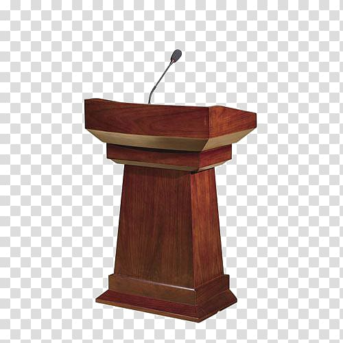 Brown wooden stand, Podium Public speaking Furniture, Podium.