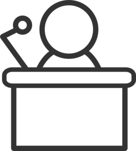 Clipart Speaker At Podium.