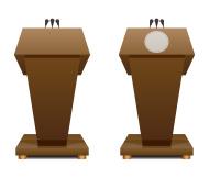 Presidential Podium Clipart.