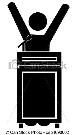 Clipart Man At Podium.