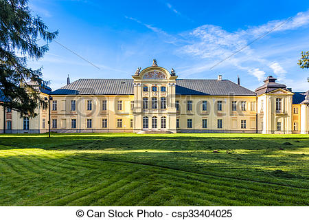 Stock Photo of Potocki Family Palace, Radzyn Podlaski, Lublin.