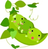 Pods of Peas Friends clipart.