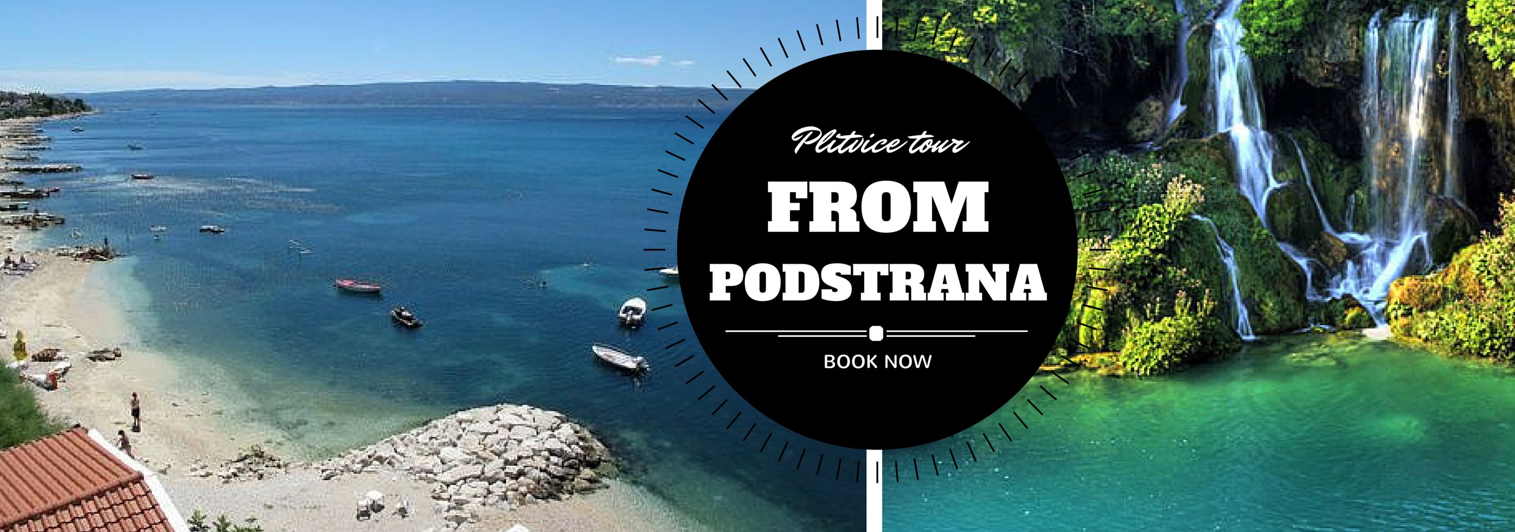 Plitvice lakes tour from Podstrana.