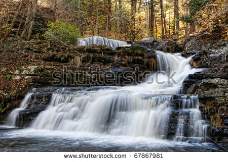 Autumn Scene Factory Falls Located George Stock Photo 67867981.