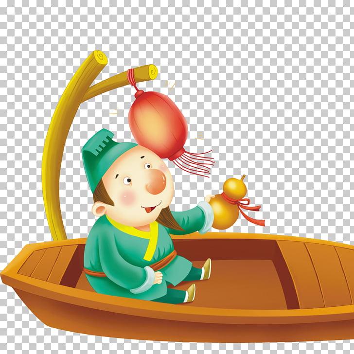 Trescientos poemas tang tang poesía ilustración, poeta barco.