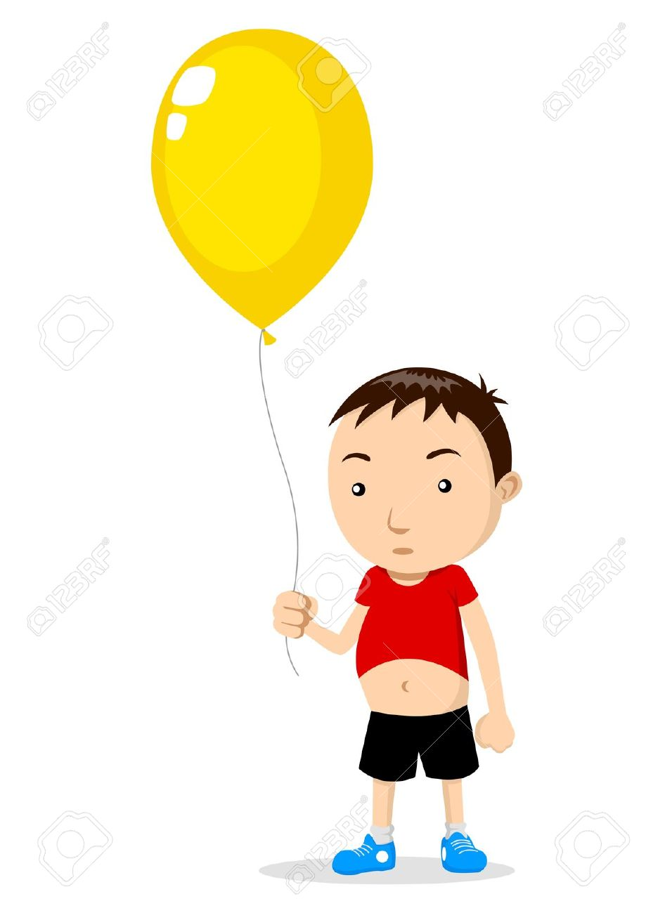 Boy Holding Poetry Clipart.