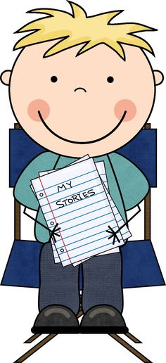 Poetry Notebook Boy Clipart.