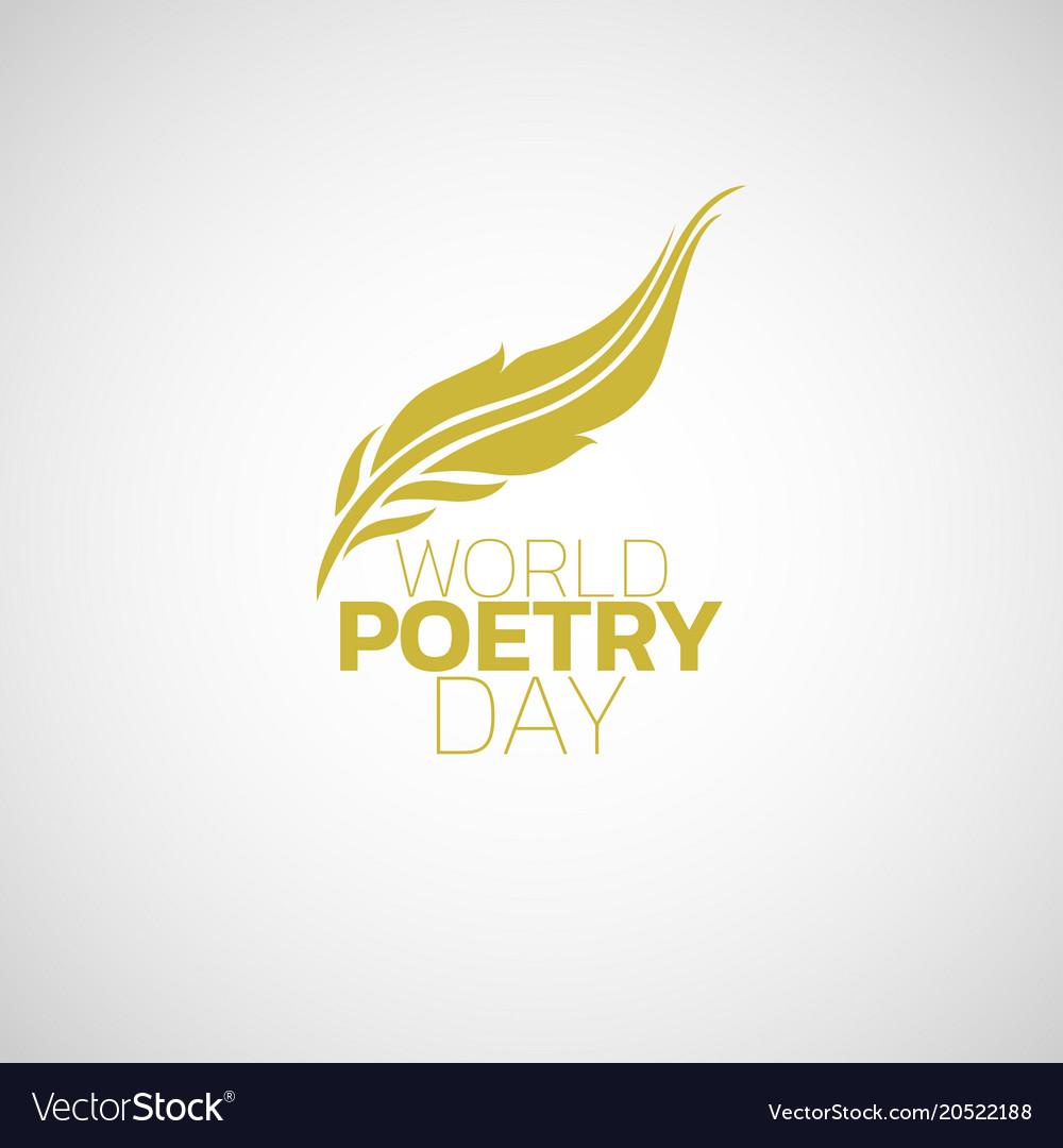 World poetry day logo icon design.