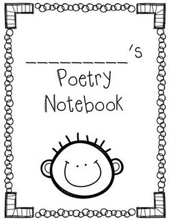 Poetry Notebook Clipart.