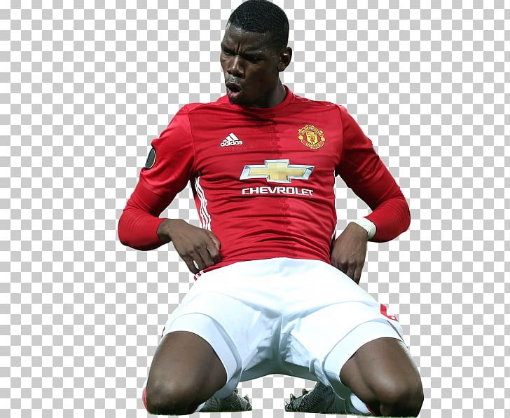 Paul Pogba Manchester United F.C. Football Player Rendering.
