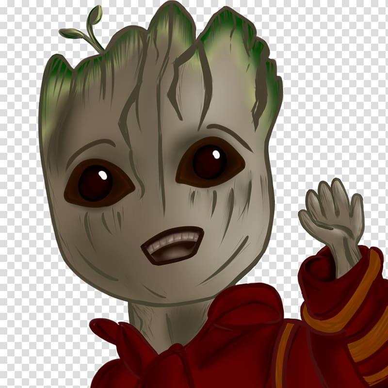 Cartoon Vertebrate Groot Artist, poggers twitch emote.