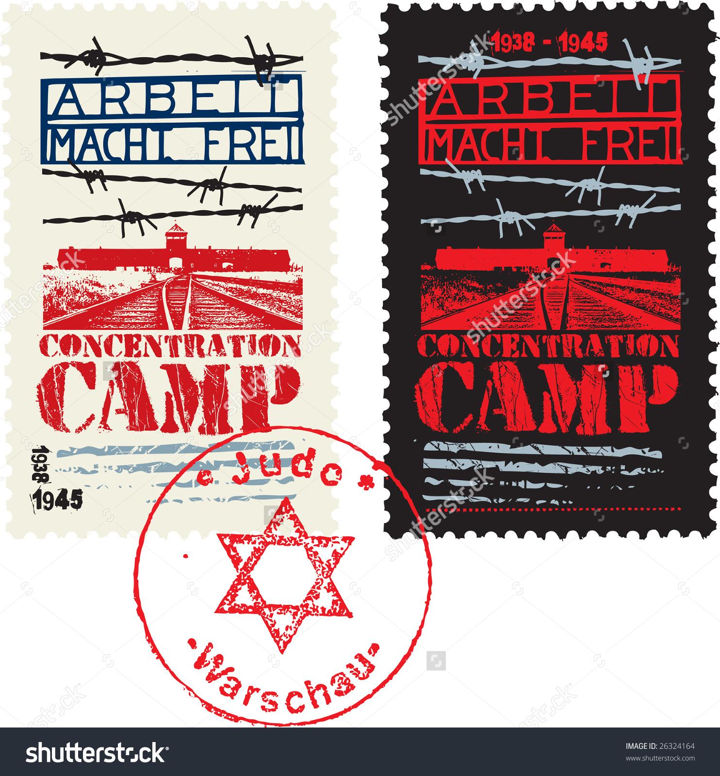 Concentration Camp Design Stock Vector Illustration 26324164.