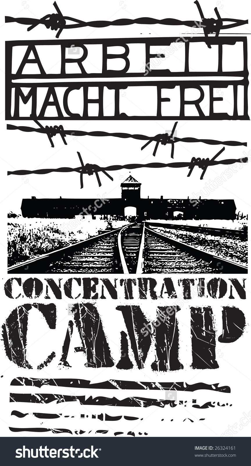 Concentration Camp Design Stock Vector Illustration 26324161.