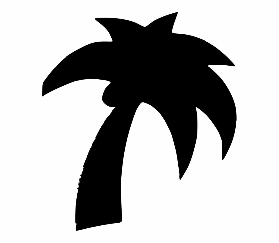 Palm Tree Clipart Pohon Kelapa Clip Art Black.
