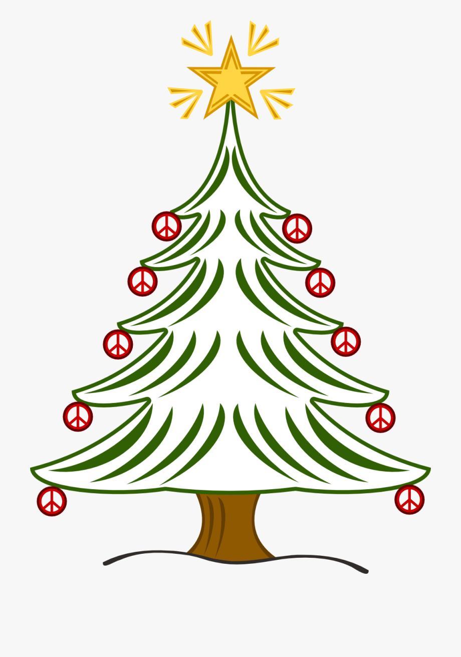 Christmas Peace Sign Clip Art.