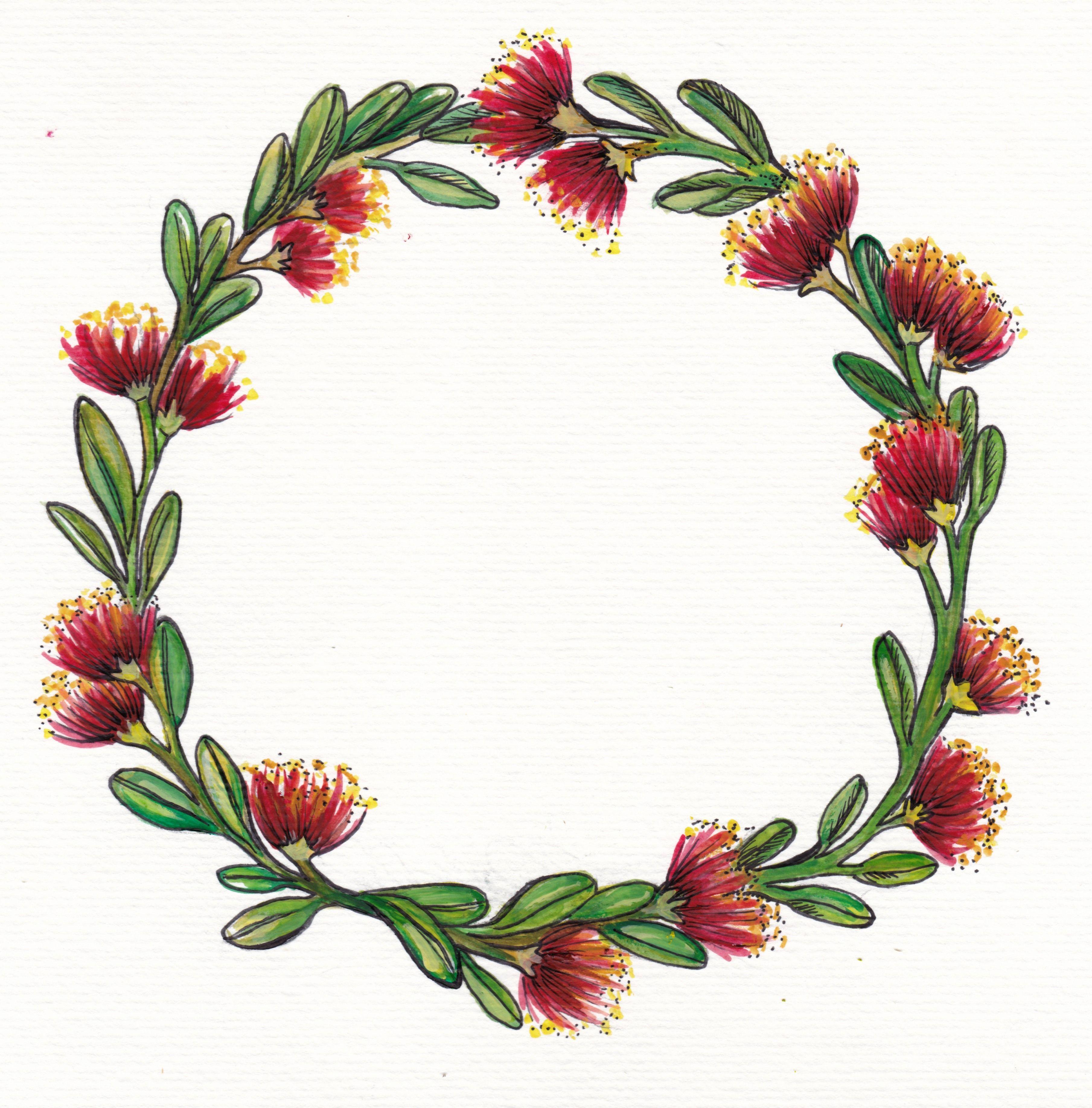Pohutukawa Christmas Wreath #pohutukawawreath.
