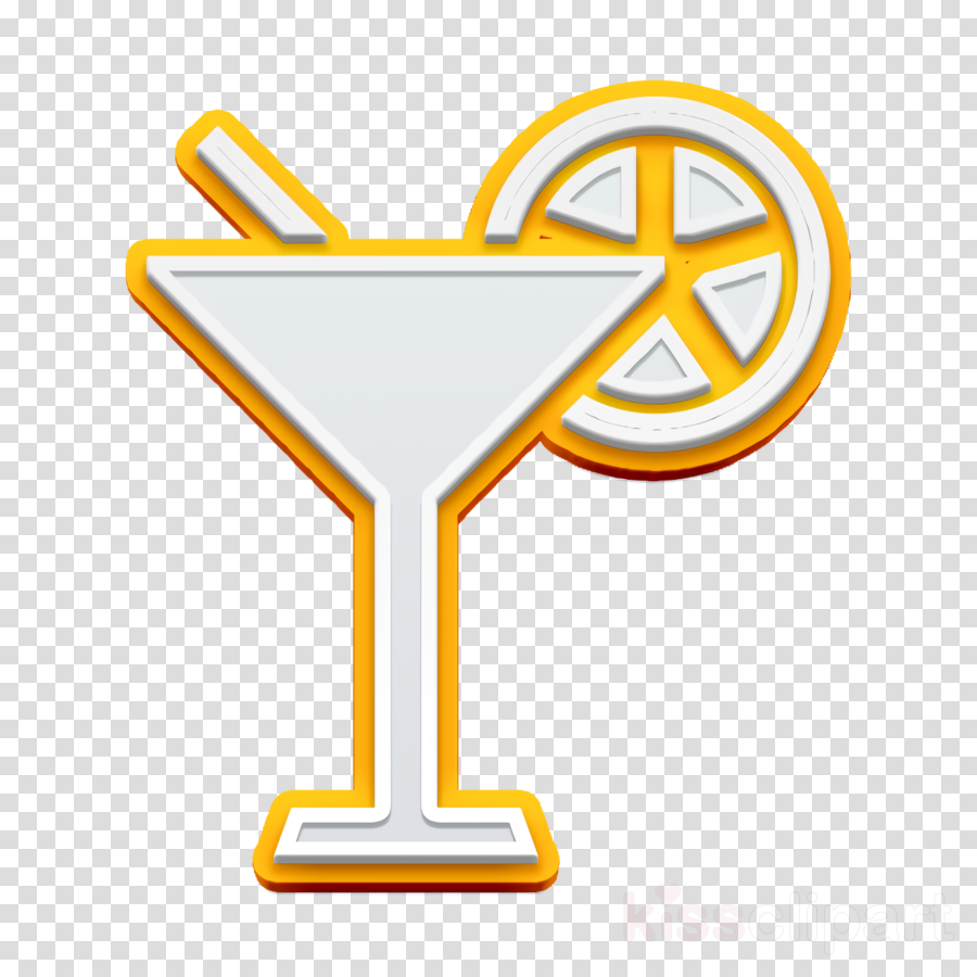 POI Food icon food icon Cocktail with lemon slice icon.