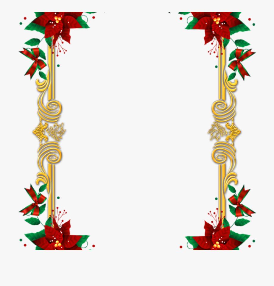 Poinsettia Clip Top Border.