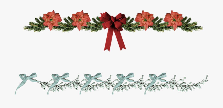 Christmas Border Poinsettia Free Image On Pixabay Png.