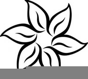 Black And White Poinsettia Clipart.