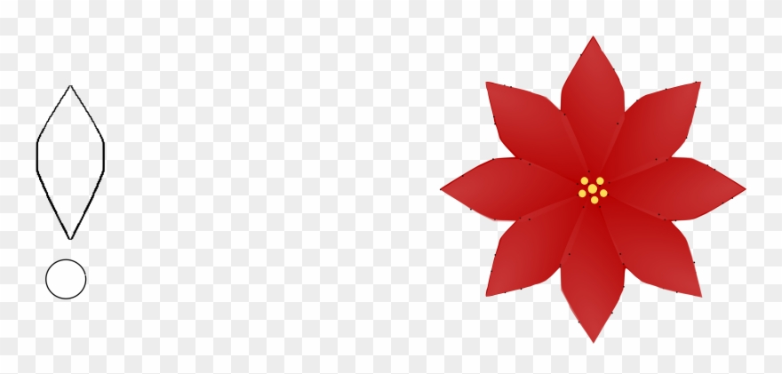 Clip Art Christmas Poinsettia Flower Petal.