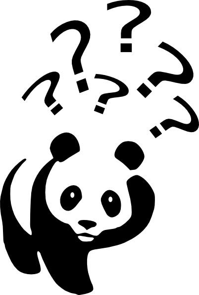 Laurent Panda Point D Interrogation clip art Free vector in.