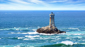 Lighthouse On Cape Sizun, Pointe Du Raz. Royalty Free Stock.