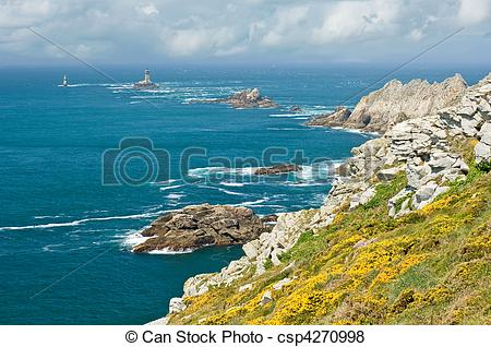 Pictures of Pointe du Raz, Brittany, France csp4270998.