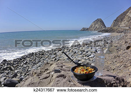 Picture of Beach Lunch Break k24317667.
