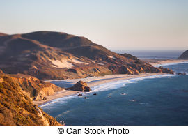 Stock Image of California Highway at Point Mugu, CA.