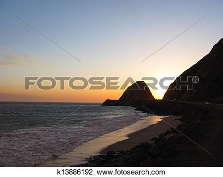 Stock Photo of Point Mugu at Night k13886192.