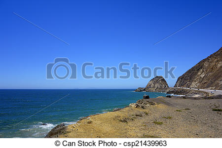 Stock Image of Beach along PCH.