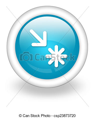 Clip Art of Icon, Button, Pictogram Point of Interest.