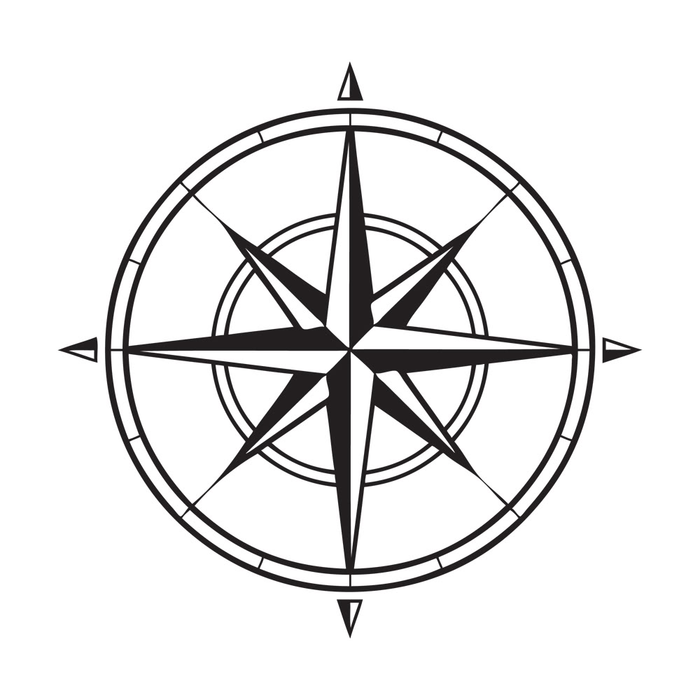 Point of the compass clipart #15