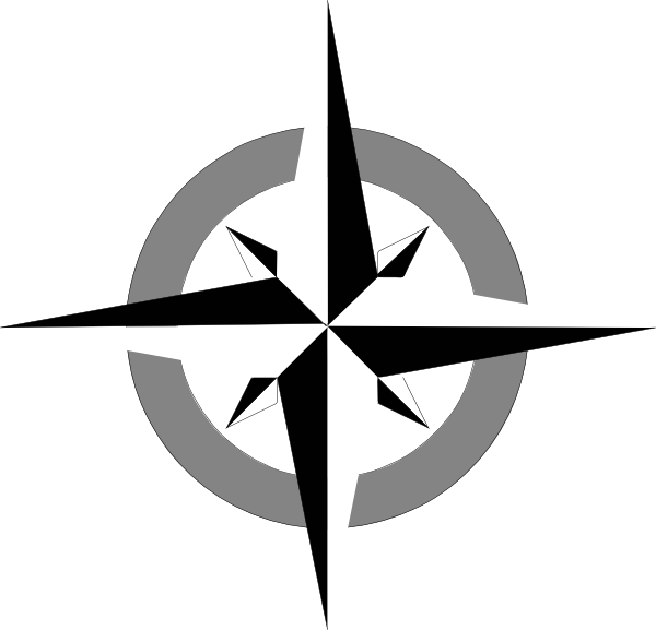 Compass points clipart.