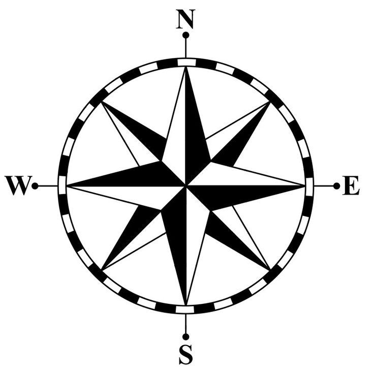 Point of the compass clipart #17