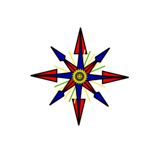 White Letter Point Compass Clip Art at Clker.com.