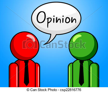Stock Illustrations of Opinion Conversation Indicates Point Of.