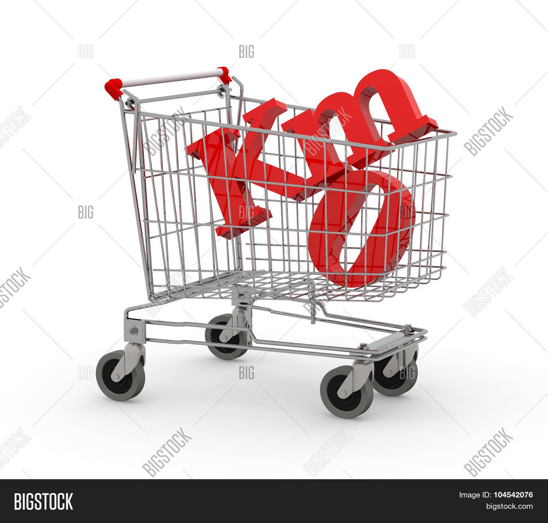 Shopping Cart Full Of Zero Kilometers Symbol Stock Photo & Stock.