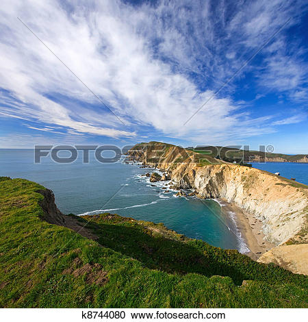 Stock Photography of Beautiful Point Reyes Scenic k8744080.