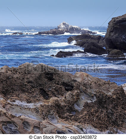 Picture of White Rock of Point Lobos.