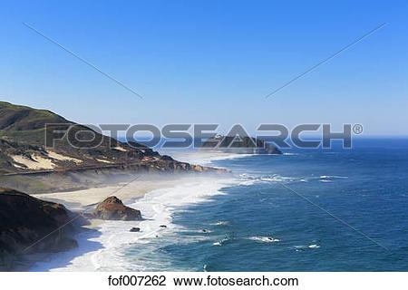 Stock Photo of USA, California, Pacific Coast, National Scenic.