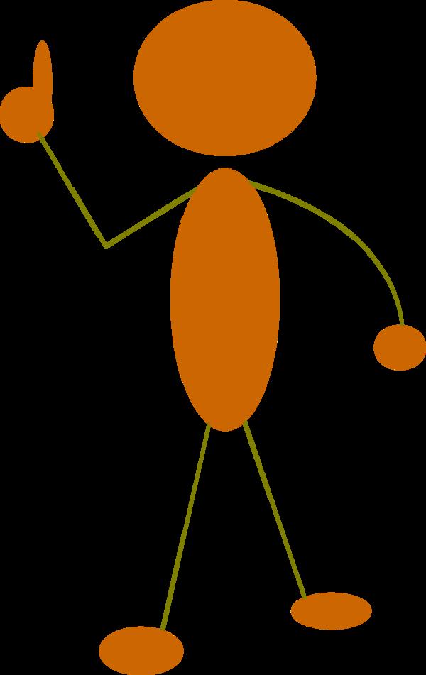 Orange Man Clipart.