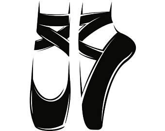 Free Pointe Shoe Silhouette, Download Free Clip Art, Free.