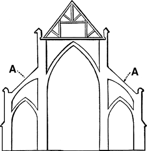 Pointed arch clipart #11