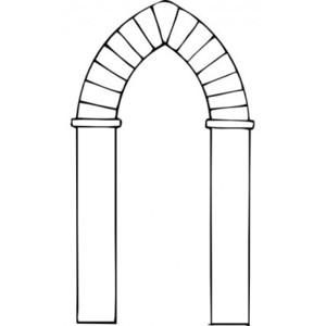Arch Types clip art Vector clip art.